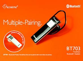 BT 703 Zestaw słuchawkowy Bluetooth Multipoint